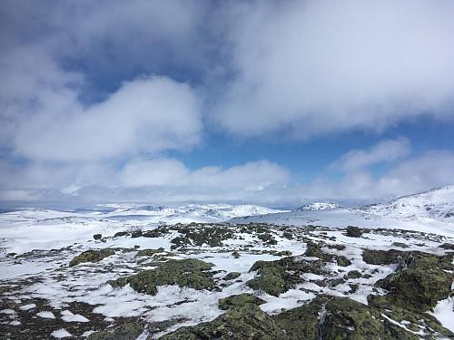 Nordaust mot Rennebu-toppar