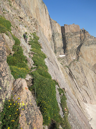 On broadway, enjoying the rich alpine flora and fauna. I even got checked out by a hummingbird while belaying.