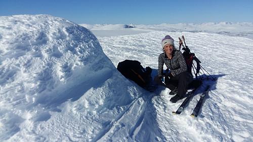 Litt av ein dag ved Gråhøe 2014 moh og blikkstille...
