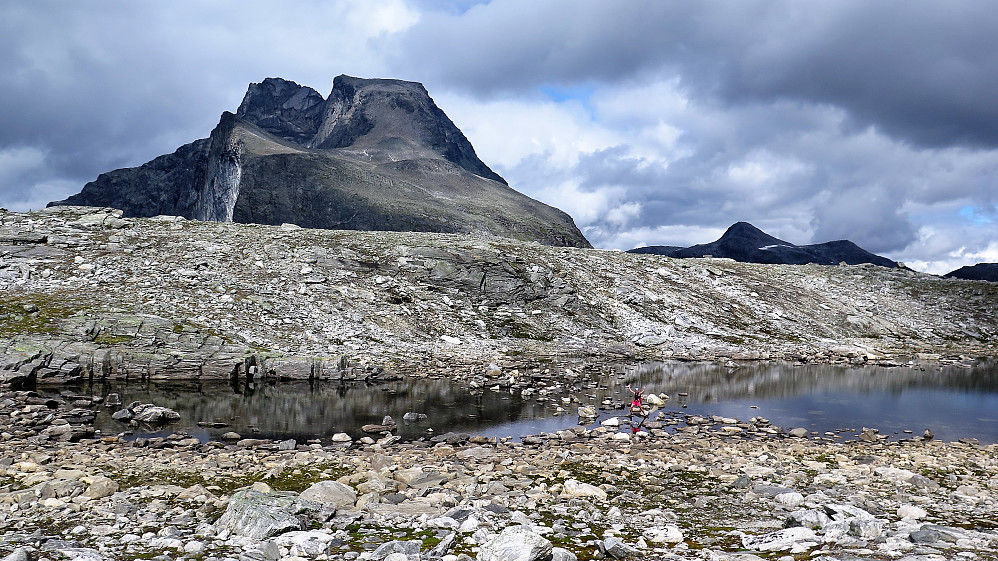 Ifrå Mongejura 1317 moh mot den mektige Kalskråtinden 1802 moh