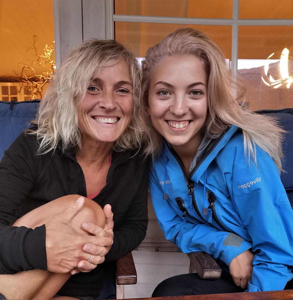 Jentekveld ilag med Miriam før tur :)