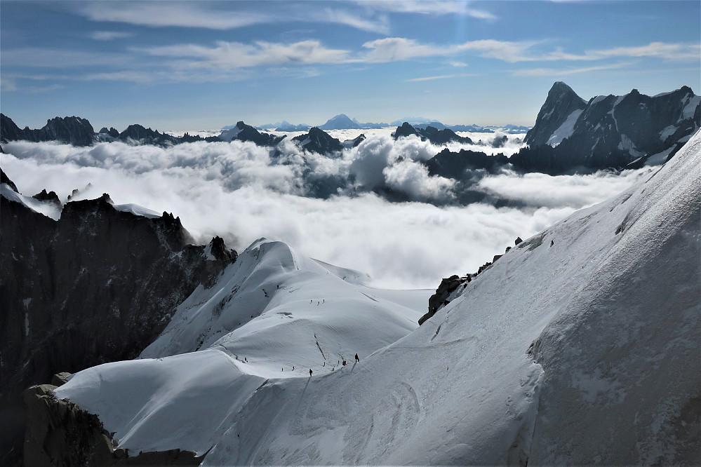 Nydelig alpeskue ifrå Aiguille du Midi <3
