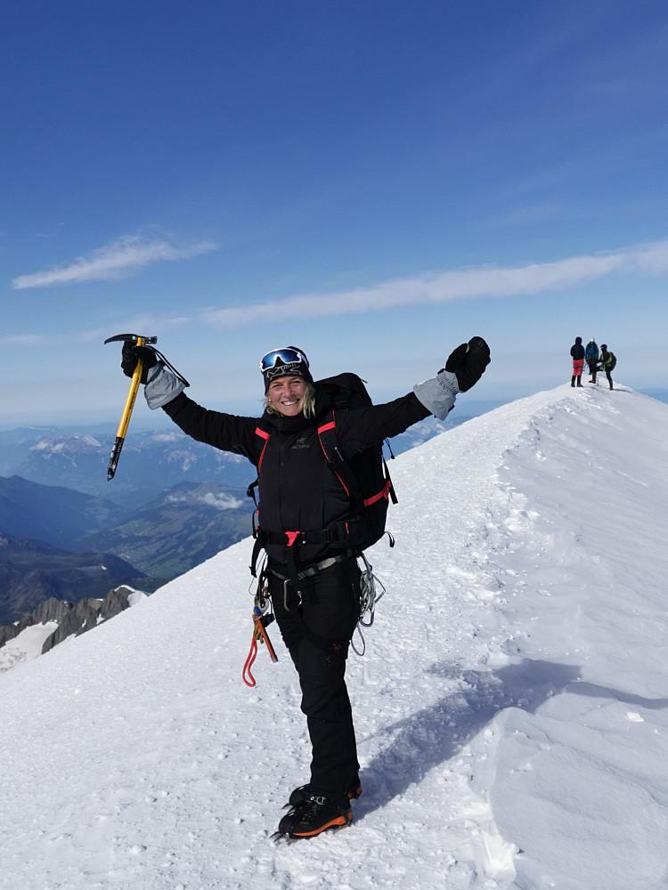 Snakke meg om blikkstille og klart toppøyeblikk på Mont Blanc