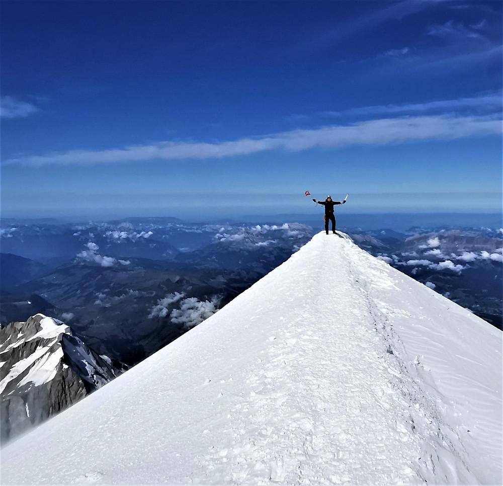 """Toppen av det """"Kvite fjell"""" Mont Blanc"""