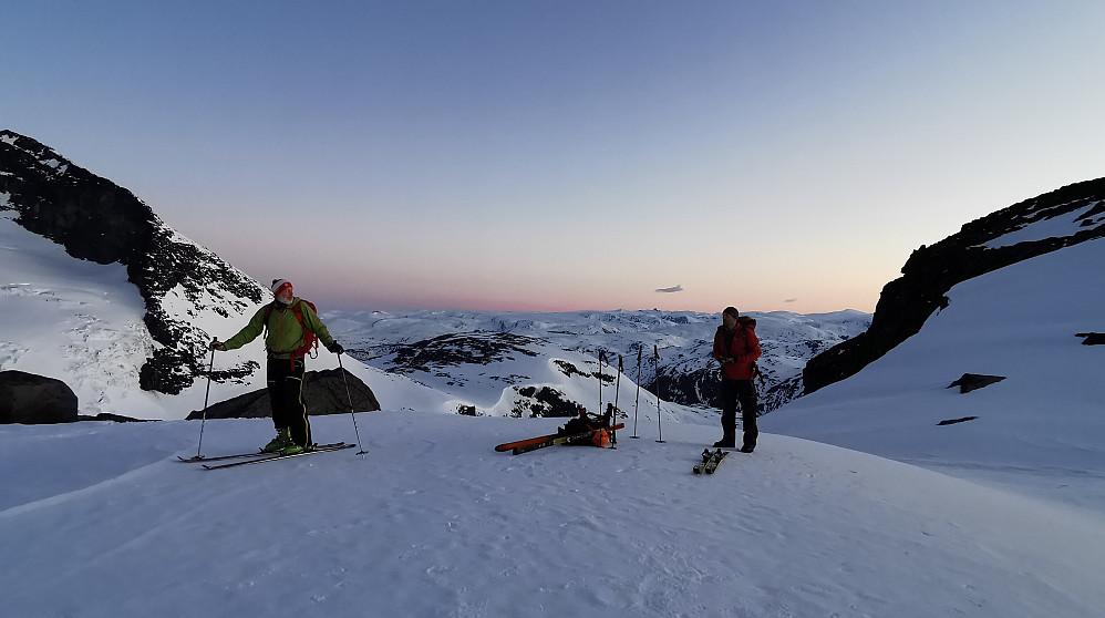 Tidleg morgen ifrå Styggedalsbreen til Gjertvassbreen!