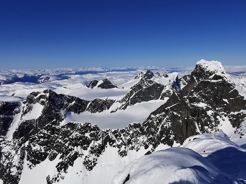Kremtoppar i Hurrungane fjellmassivet