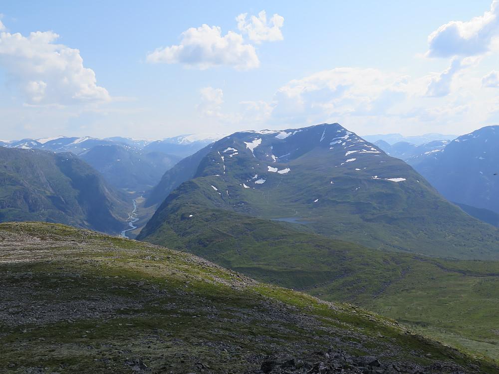 Frå Blåfjell mot Daurmål og litt av Våtedalen og mot Jølster