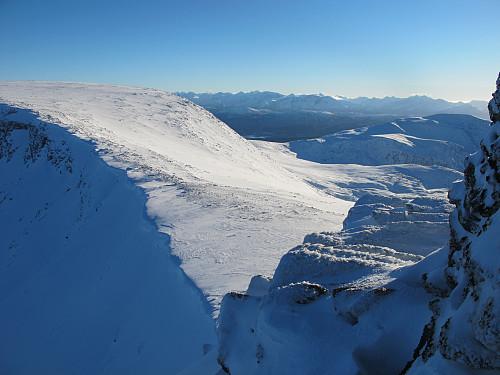 Frå Keipen 916 moh  mot Storfjellet 950 moh (Haram)