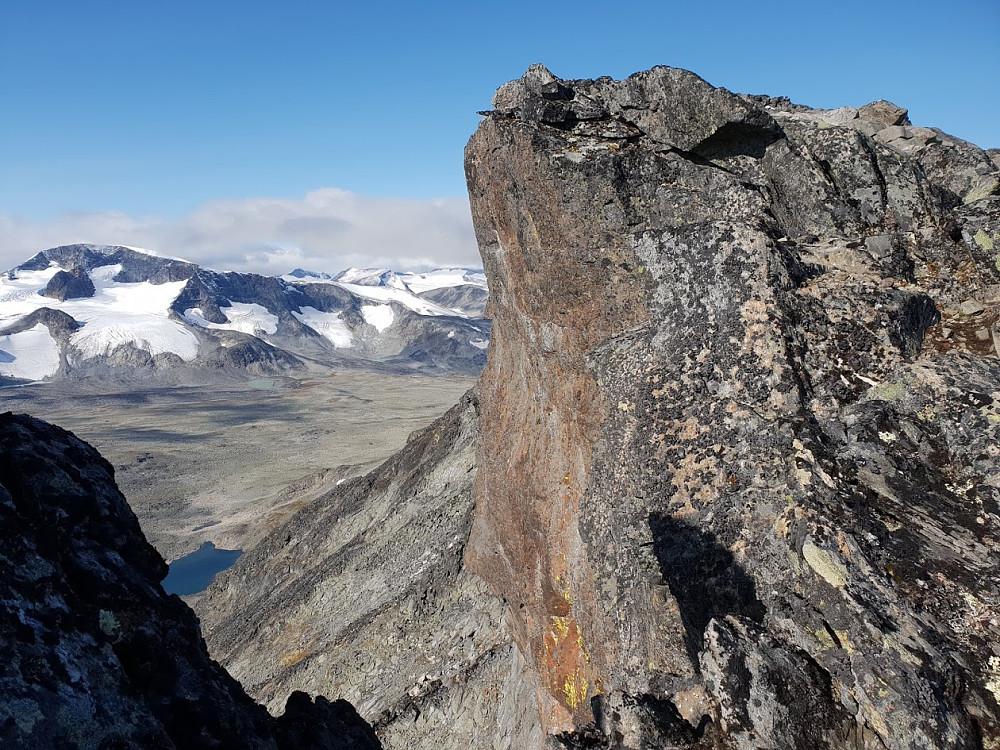 Siste klyv opp mot Ryggjehøe