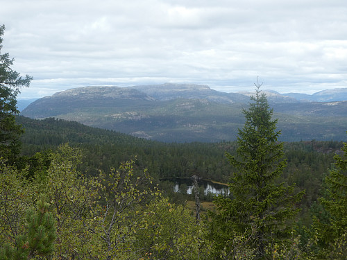 Utsikt fra toppen.