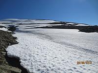 Her var det lett å gå på fast snø