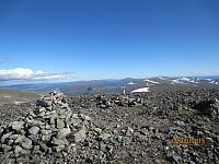 Toppen av Heimdalshøe og østover