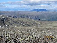 Ned mot Sikkildalshornet med Heidalsmuen bak