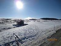 Turens høyeste fjell, Formokampen, var godt synlig ved turstart