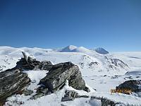 Toppen av Solsideberget mot Rondane