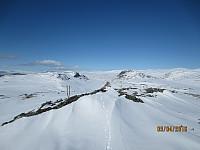 """Fra toppen av Søre Skorutberget og tilbake mot dagens 2 første """"rødtopper"""""""
