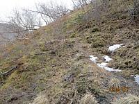 Stien snirklet seg opp den bratte fjellsia