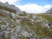 Opp mot Staurinibba var stien utydelig, men merkingen meget bra