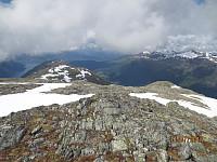 Fra toppen av Staurinibba og ned mot Stryn