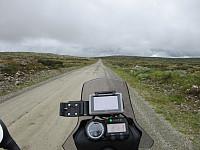 På det høyeste partiet av Birkebeinerveien, så ikke været i Østerdalen så lovende ut