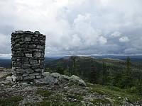 Toppvarden på Nordhovden og over mot Sørhovden