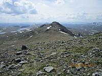 På tur ned av Buahøin tenkte jeg at jeg måtte ta en tur oppom det andre toppunktet, som var ganske markant