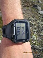 På toppen viste klokka 1526 moh, så da har toppen en primærfaktor på 60 meter