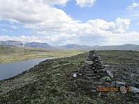 Varde på toppen av Falkehøi