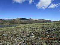 Her er begge toppene, og jeg tok  Einhøvlingshøe, som er den bakerste og til høyre, først