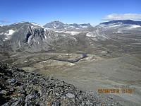 Utsikt mot 2000 meters toppene på Dovre
