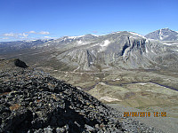 Mot Austre Skredahøe som er turens neste topp. Skal gå opp på venstre side av fjellet