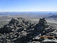 Liten varde rett ved toppen av Austre Skredahøe