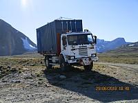 Og en skikkelig tøffing av en gammel lastebil