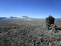 Etter en veldig varm tur opp, var jeg endelig på toppen av Kolla