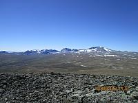 Flott utsikt på Snøhetta også fra Kolla