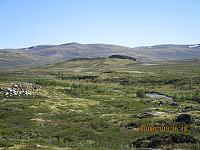 På tur ned så jeg bort på det markante Haukberget, og bestemte meg for å ta en avstikkert opp dit