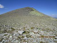Da er det kun igjen en bratt fjellside opp mot toppen av Storelgvasshøe