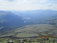 Utsikt fra toppen og ned mot Straumbu
