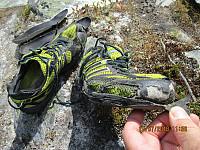 Tror ikke det er igjen så mange turer i disse joggeskoene.... Synd, da det er vanskelig å finne nye gode sko.