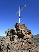 Måtte ta en avstikker bort på dette korset som stod oppe på fjellryggen