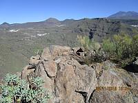 Fra toppen og mot dagens 2 første topper til venstre i bildet