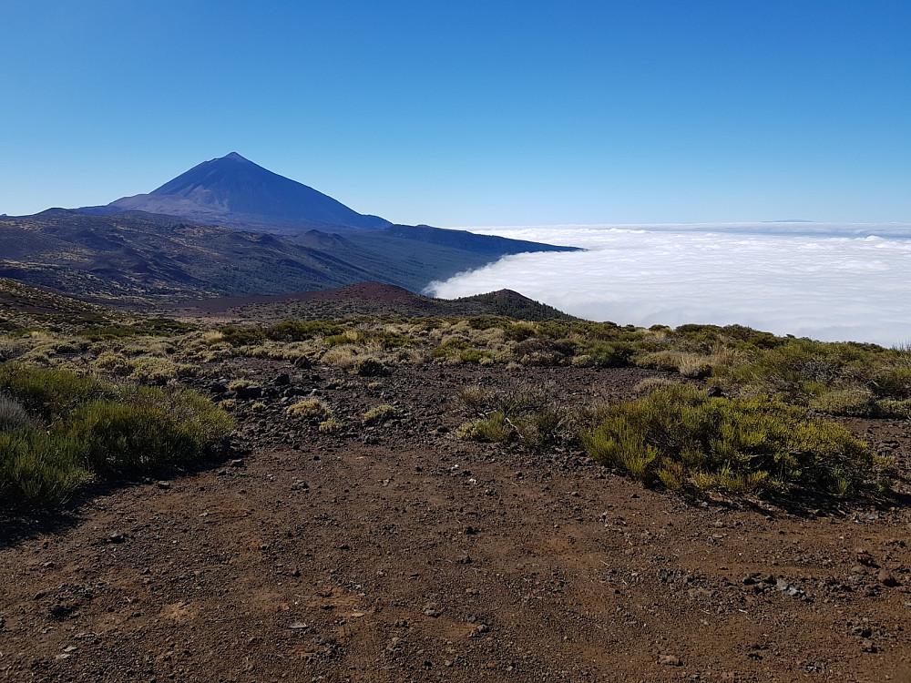 Utsikt bort mot Teide og med La Palma langt ute i havet