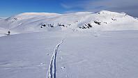 Flotte snøforhold i dag, og nysnø på gammel hard snå gjorde det lett å gå