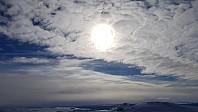 L sør var det overskyen og i nord var det blå himmel, og jeg var midt i mellom