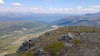 Utsikt fra Såleggje og ned mot Soleggen hvor jeg har parkert