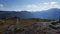 Utsikt opp Bøverdalen og Storhøe som jeg kommer fra