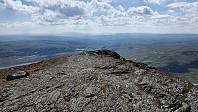 Fra toppen av Forellhogna og sørover mot turstart