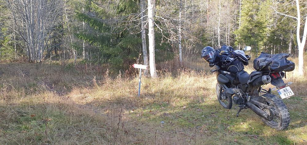 Jeg kjørte en smal grusvei opp til der jeg fant skiltet sti til Ulvsjøberget