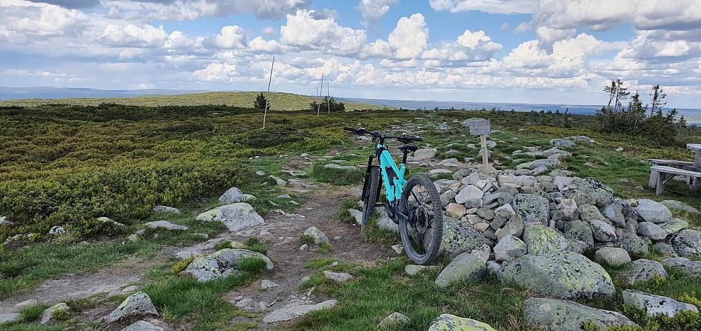 Toppen av Mostfjellet og bort mot Snørvillen