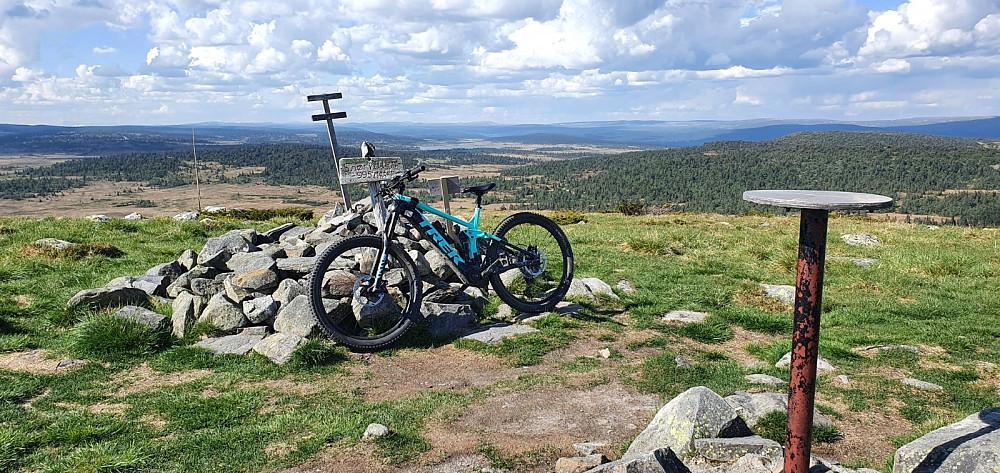 Dette var første gang på Snørvillen med sykkel